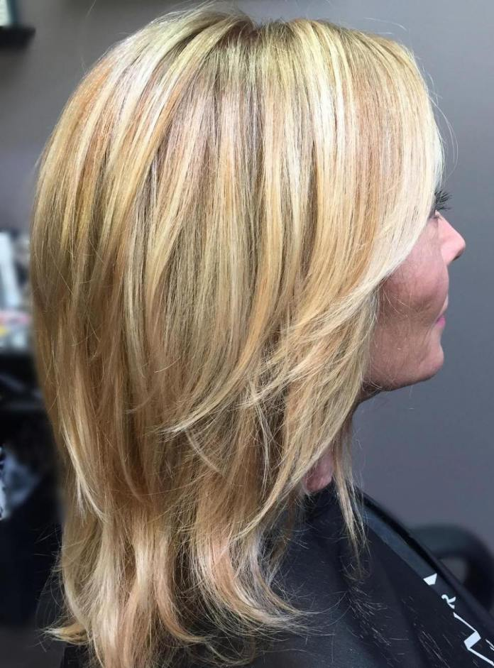 Blonde-Layered-Cut Gorgeous Hairstyles and Haircuts for Women Over 40