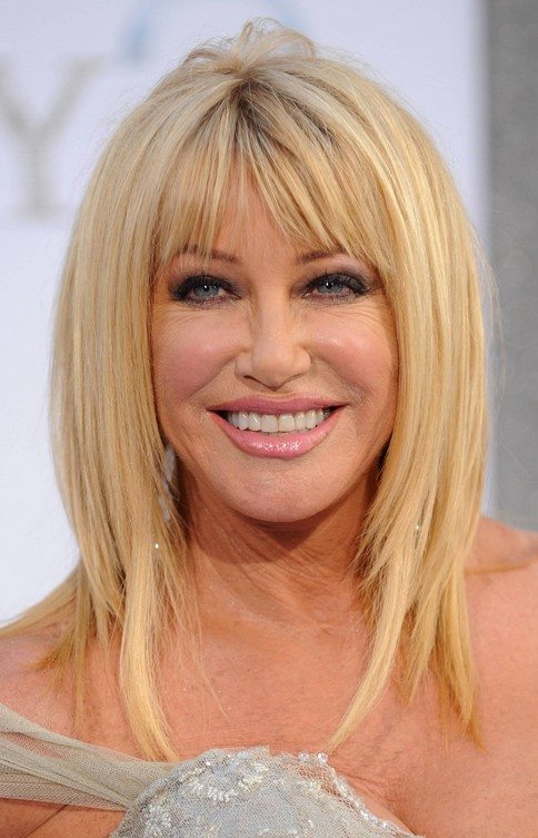 Blonde-Layered-Straight-Hair Hairstyles for Women Over 60 To Look Stylish