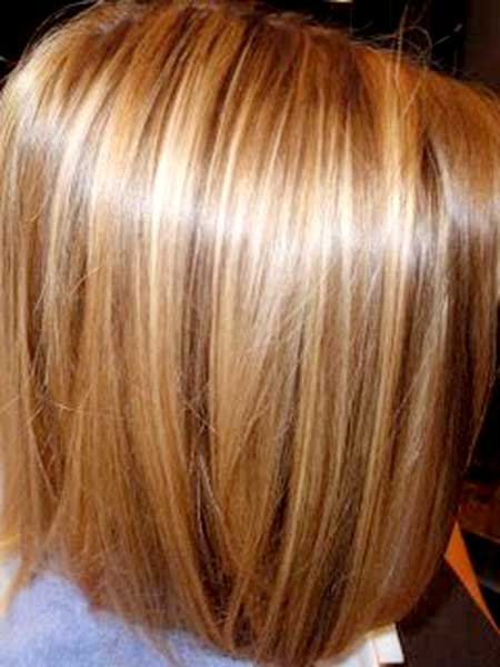 Brown-Highlighted-Short-Bob-Hair-Color-for-Girls Short Hair Colors Ideas 2020