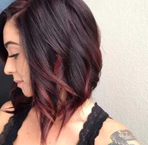 Colored-Short-Haircut Color For Short Hair
