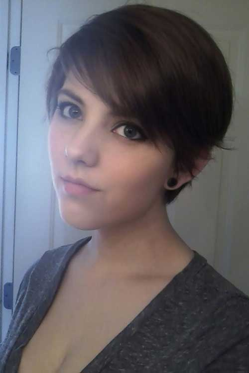 Cute-Short-Fine-Straight-Pixie-Cut-for-Girls Cute Short Hair Cuts For Girls