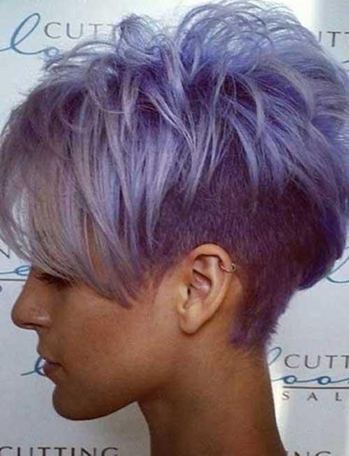 Cute-Short-Grey-Purple-Layered-Hair-for-Girls Cute Short Hair Cuts For Girls