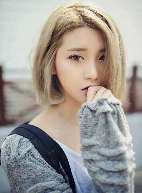 Cute-Short-Line-Bob-for-Asian-Girls Cute Short Hair Cuts For Girls