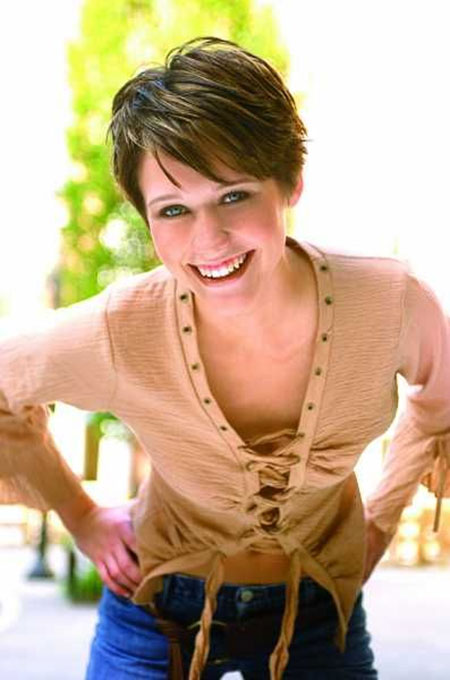 Cute-Short-Pixie-Cut-with-Short-Bangs Pixie haircuts are undoubtedly the best short haircuts for you