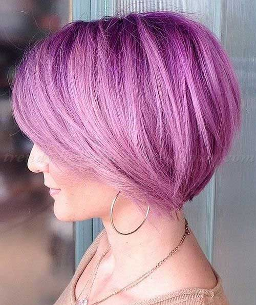 Cute-Short-Purple-Hairstyle-for-Girls Cute Short Hair Cuts For Girls