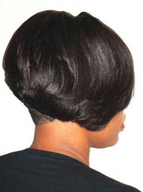 Dark-Layered-Bob-for-African-American-Women Black Girl Bob Hairstyles