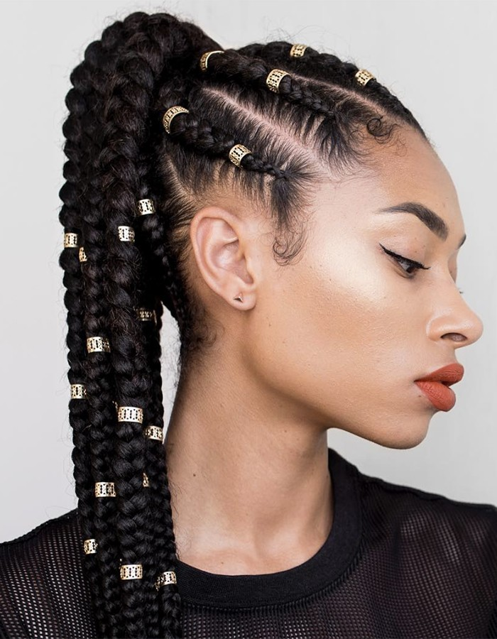Glam-Braided-Look Braids Hairstyles for an Ultimate Princess Look
