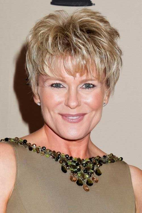 Haircuts-for-Women-Over-50-Short-Hair-Style Hottest Short Layered Hairstyles For Women Over 50