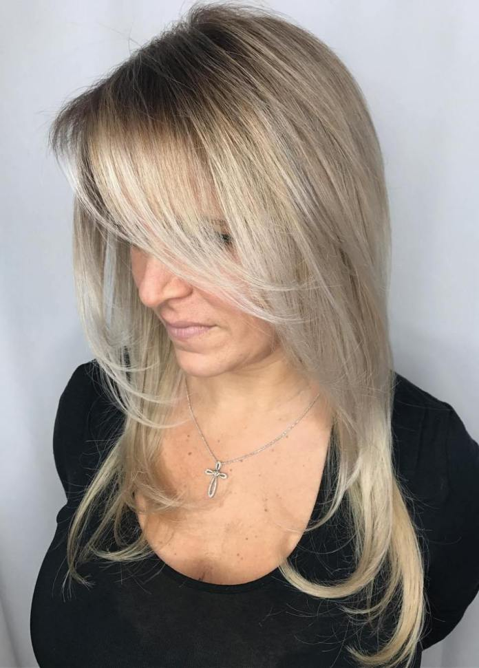 Insta-Worthy-Long-Hair Gorgeous Hairstyles and Haircuts for Women Over 40