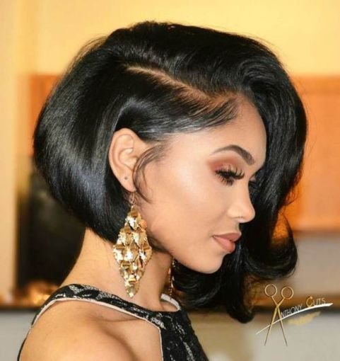 Jet-Black-Bob 15 On-trend Bob Haircuts For Black Women