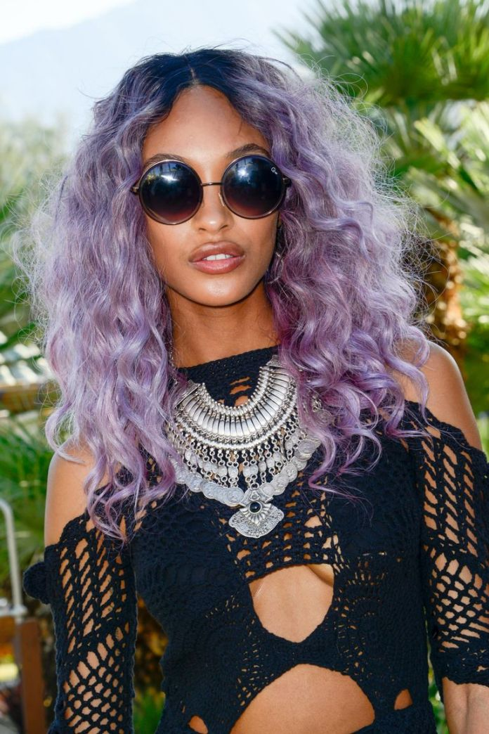 Jordan-Dunns-Purple-Extravaganza Stunning Curly Hairstyles That Are All About That Texture