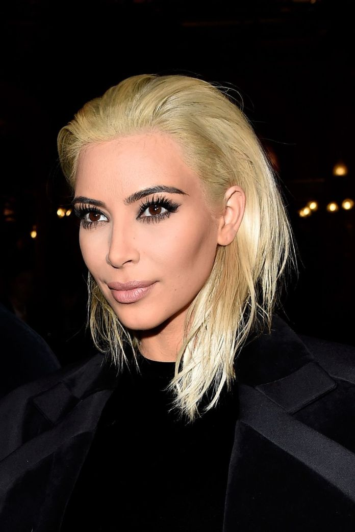 Kim-Kardashian-West Short Blonde Hairstyles That'll Inspire You to Call Your Colorist