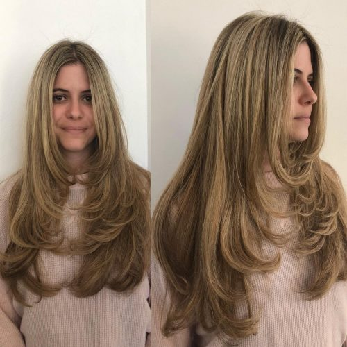 Layered-Hair-of-Oval-Faces 12 eye-catching longhair style