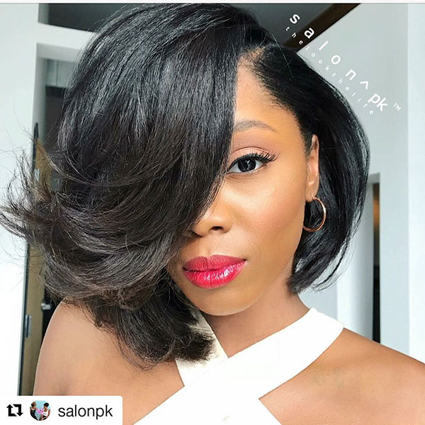 Layered-Long-Bangs 15 On-trend Bob Haircuts For Black Women