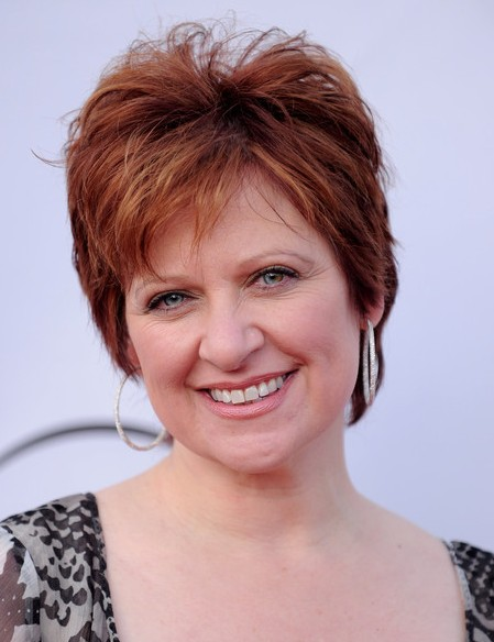 Layered-Short-Red-Pixie-Hairstyle-for-Women-Over-50 Hottest Short Layered Hairstyles For Women Over 50