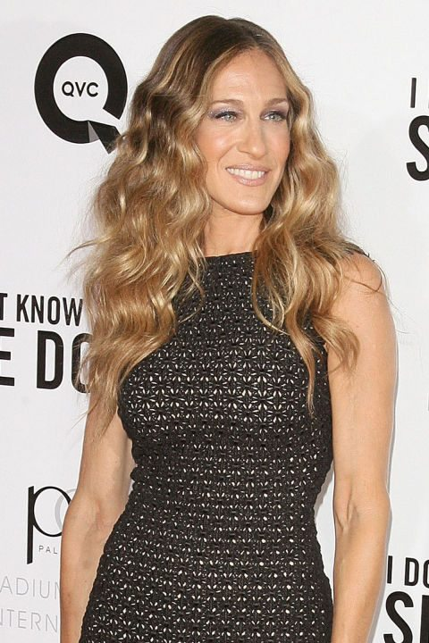 Long-Blonde-Wavy-Hair-with-Curls Curly Hairstyles for Women Over 50