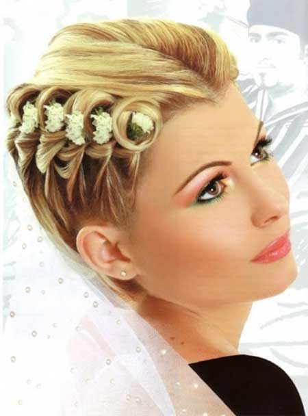 Lovely-and-Attractive-Splendid-and-Mesmerizing-Wedding-Hairstyle Wedding Hairstyles for Short Hair
