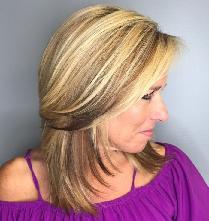 Luscious-Layered-Over-40-Haircut Gorgeous Hairstyles and Haircuts for Women Over 40