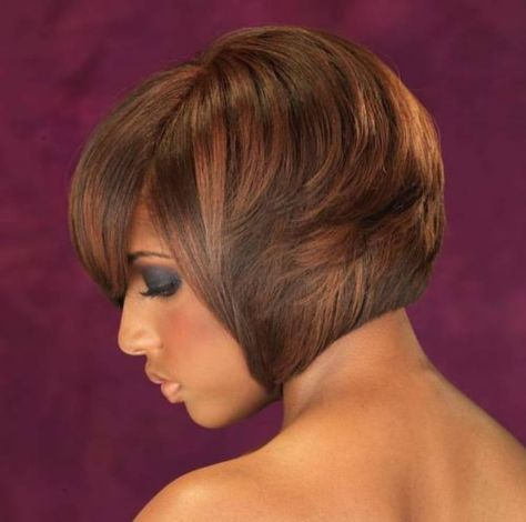 Mahogany-Bob-with-Highlights 15 On-trend Bob Haircuts For Black Women