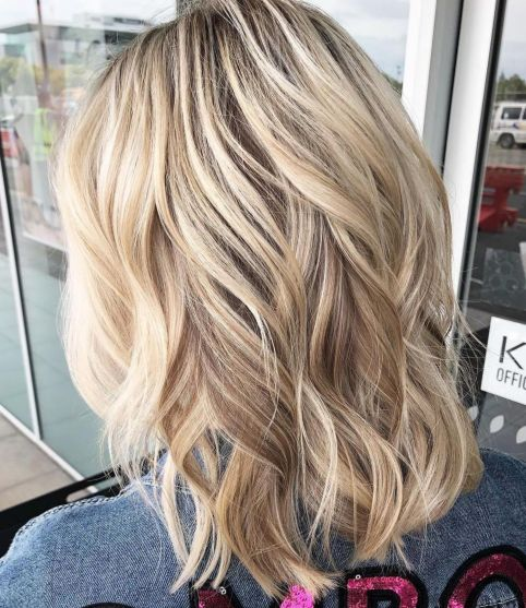 Medium-Length-Angelic-Waves Shoulder-length hairstyles, the most popular hairstyle