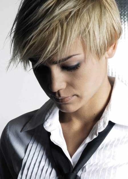 Messy-Short-Haircut Short Haircuts for Straight Hair
