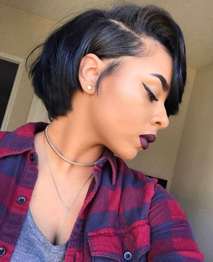 Multi-Colored-Asymmetric-Cut-with-Wavy-Front-Hair Short Hairstyles for Black Girls to Look Flawless