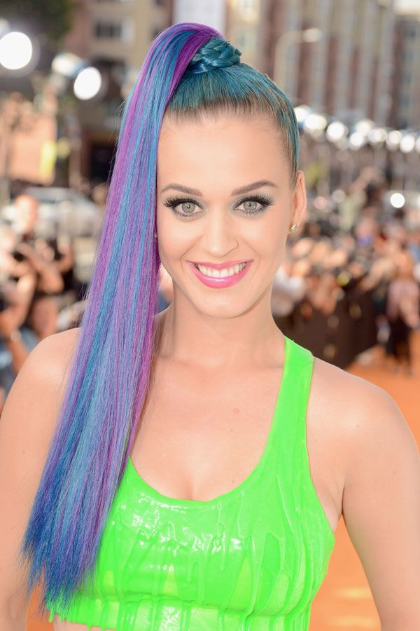 Multicolored-Top-Ponytail Edgy Haircuts for Women to Look Super Model