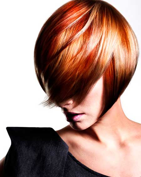 Multiple-Gorgeous-Red-Shades-Combination Short hair color ideas