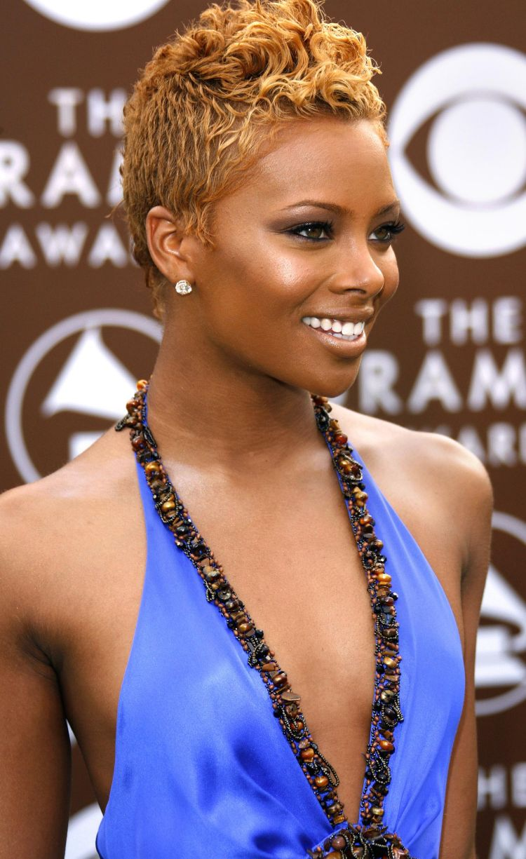Orange-Wavy-Spikes-with-Textured-Side-Hair Short Hairstyles for Black Girls to Look Flawless