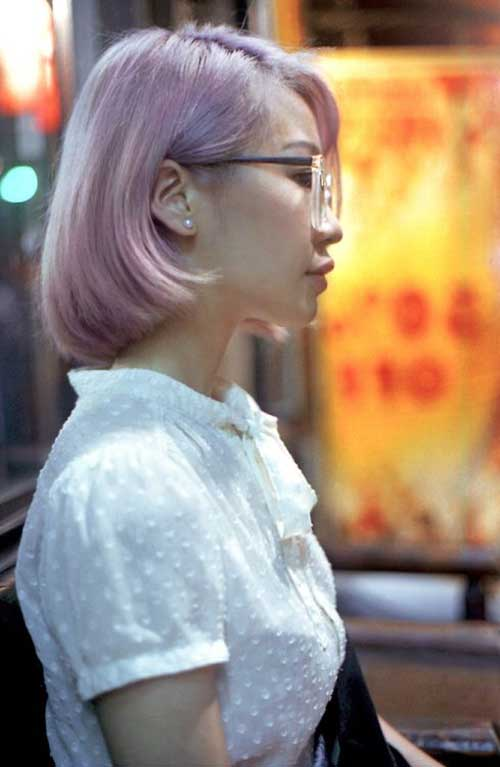 Pink-Colored-Bob-Hair-Style Short Hairstyle Color Ideas