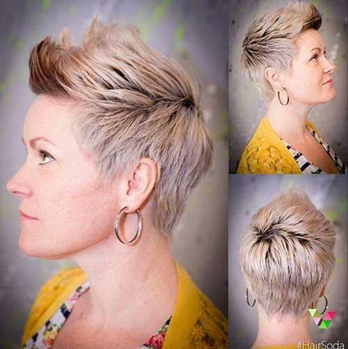 Pixie-Platinum-Blonde-Hairstyle Short Trendy Hairstyles 2020