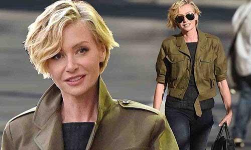 Portia-de-Rossi's-Short-Blonde-Hairstyle Short Trendy Hairstyles 2020