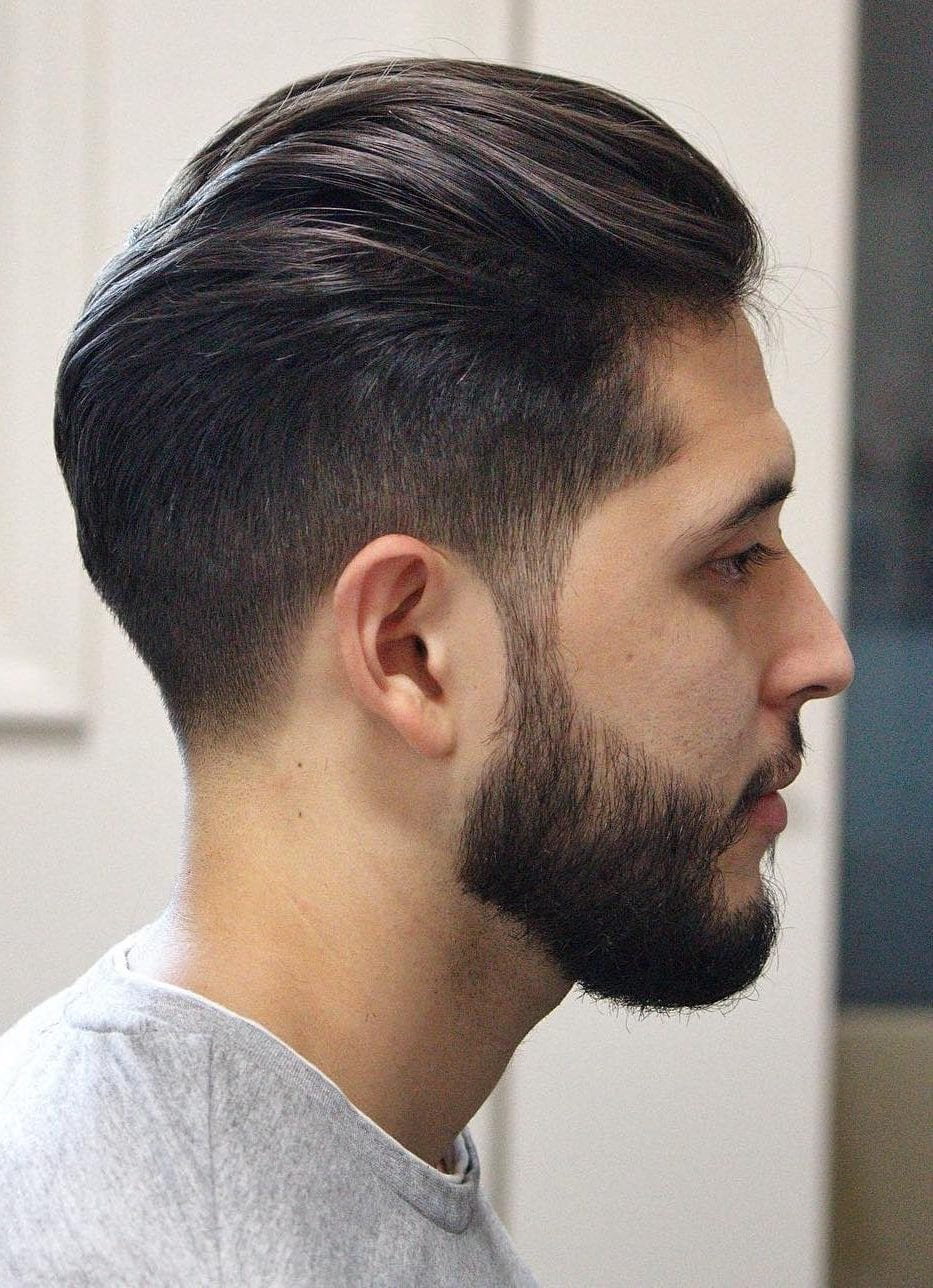 Pulled-Back-Hair-Undercut-Long-Beard Mens Hairstyles with Thin Hair for Ultra Stylish Look