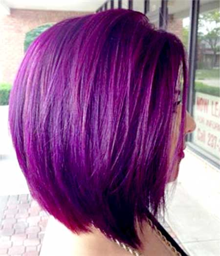 Purple-Colored-Short-Hair-for-Girls Short Hair Colors Ideas 2020