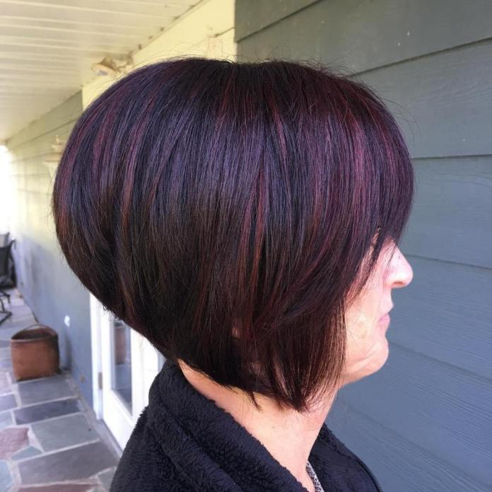 Purple-Power Gorgeous Hairstyles and Haircuts for Women Over 40