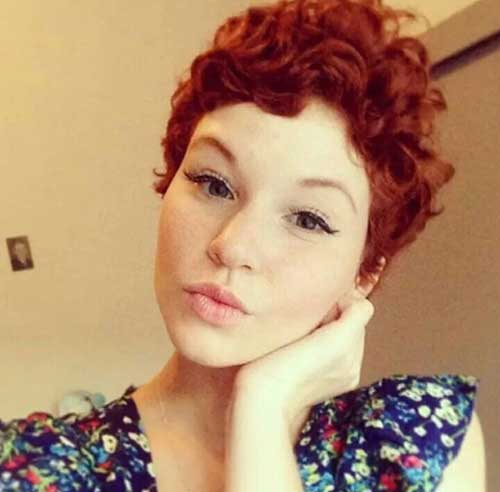 Red-Curly-Pixie-Hairstyle Cool Short Red Curly Hairstyle