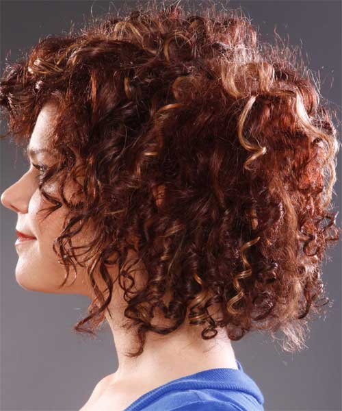 Red-Short-Thick-Curly-Hair-Side-View Cool Short Red Curly Hairstyle