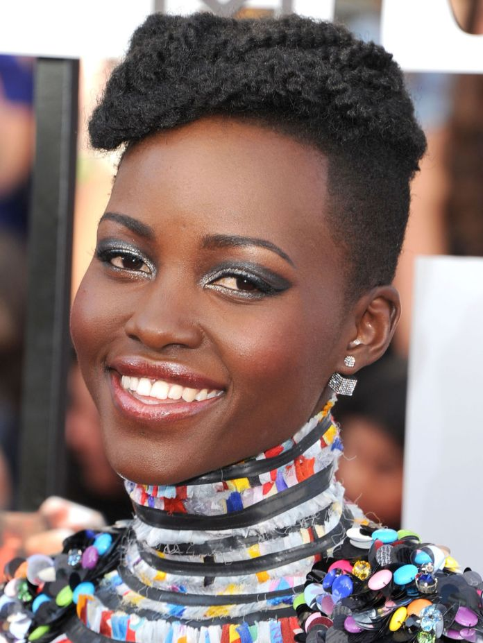 Rope-Like-Permed-with-Razored-Side-Hair Short Hairstyles for Black Girls to Look Flawless