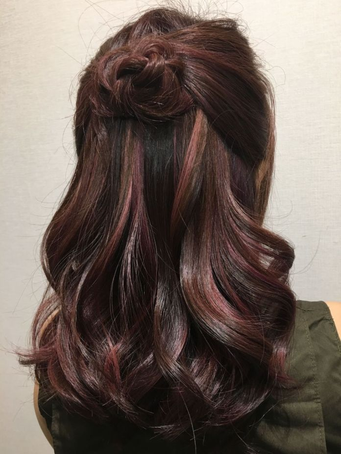 Rose-Gold-Highlight-in-Black-Hair Most Beautiful Black Hairstyles with Highlights