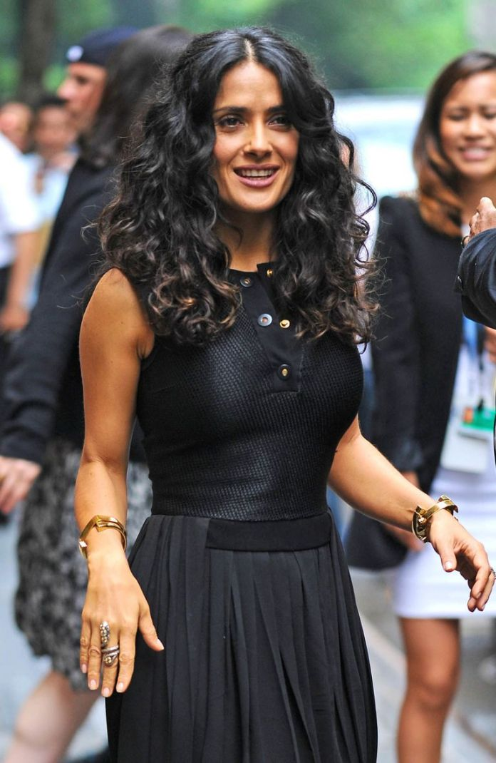 Salma-Hayeks-Classic-Curl Stunning Curly Hairstyles That Are All About That Texture