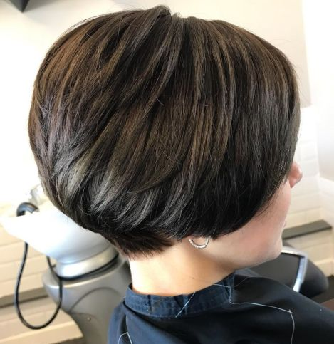 Short-Bob-with-Tapered-Back Short Haircuts For Thick Hair