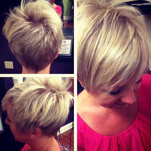 Short-Bouncy-Hairdo-with-long-Bangs-for-Women Short Hairstyles for Older Women