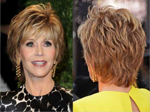 Short-Layered-and-Bouncy-Hairstyle-for-Women Short Hairstyles for Older Women