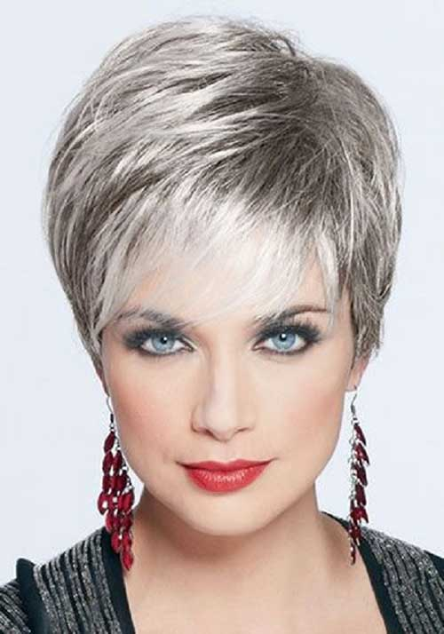 Short-Layered-and-Edgy-Hairdo-for-Older-Women Short Hairstyles for Older Women
