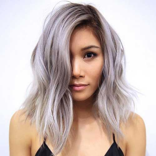 Short-Pastel-Silver-Haircut-for-Women Best Short Hair Cuts For Women