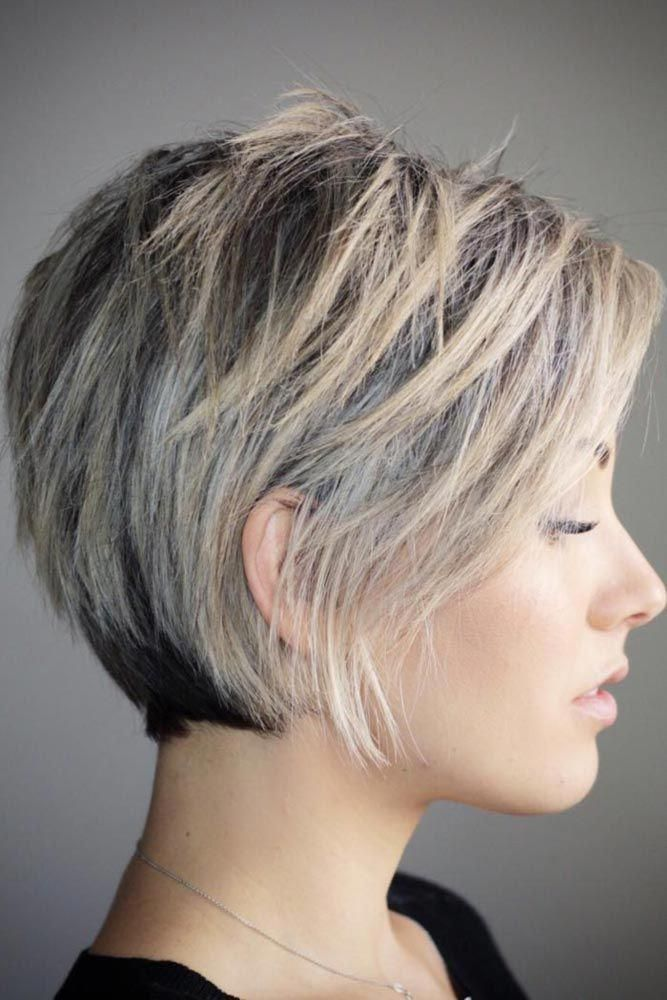 Silver-Blonde-Shag-Bob-Cut Short Hair Trends for Stylish and Gorgeous Look