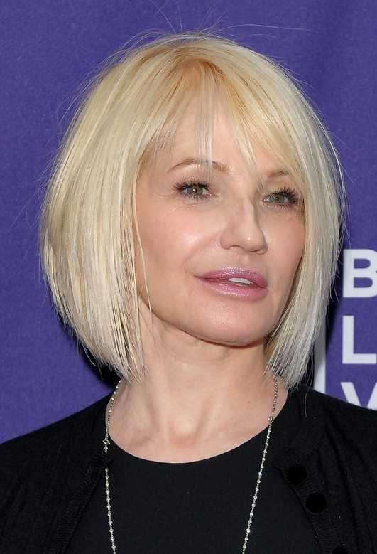 Sleek-Bob-with-Nape-Length-Layers Best Hairstyles For Women Over 50 With Fine Hair
