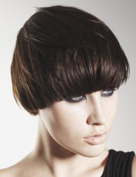 Straight-Brown-Hair Styles for Short Straight Hair