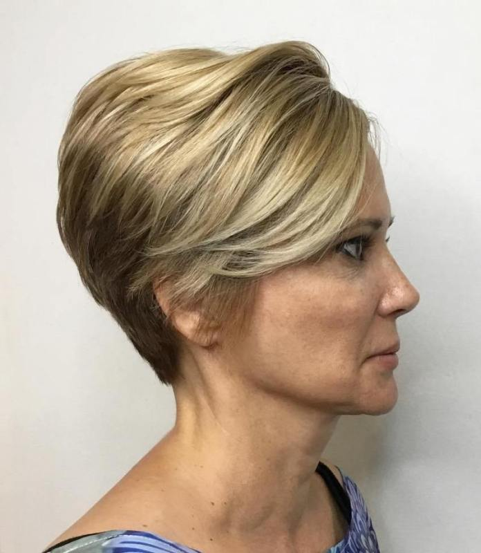 Tapered-Pixie-with-High-Crown Gorgeous Hairstyles and Haircuts for Women Over 40
