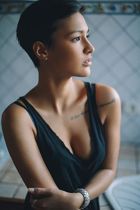 The-Decent-Backwards-Swept-Pixie-Hairstyle Pixie haircuts are undoubtedly the best short haircuts for you